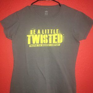 Be A Little Twisted Tea Women's Medium Gray Tshirt